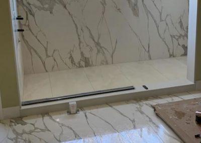 Calacatta Supreme Porcelain Shower and Bath