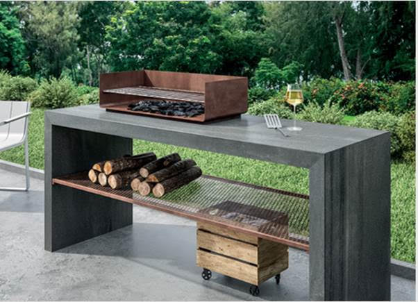Porcelain countertops and surfaces are great choices for outdoor kitchens and bars