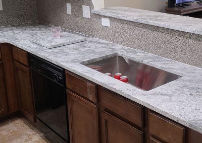 Thunder White Granite Countertop and Vanity