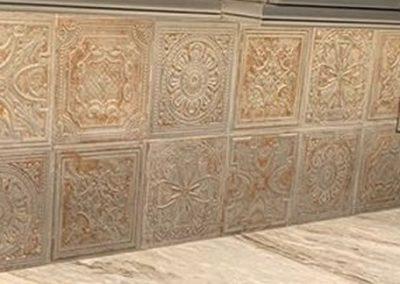 Unique Kitchen Backsplash With Marble Countertops